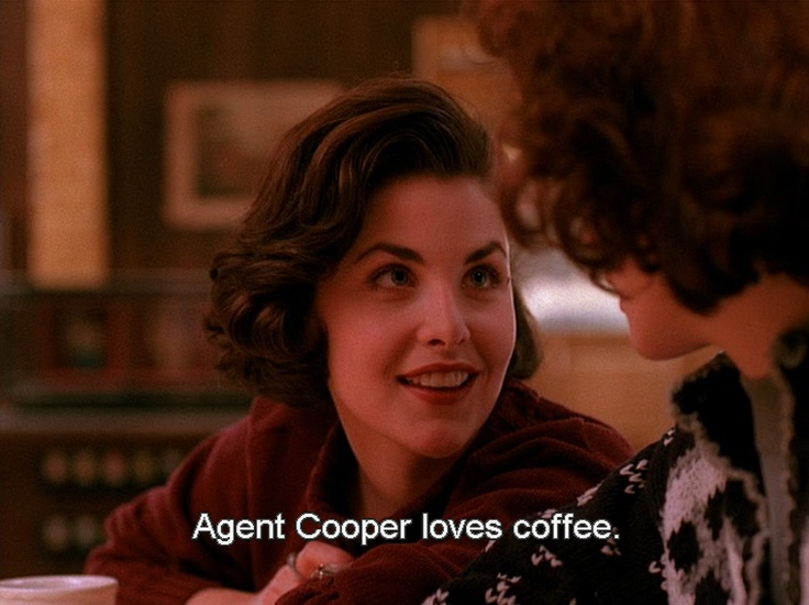 Twin Peaks Pie Quote: Audrey + Agent Cooper + Coffee