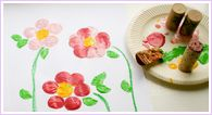 cork flowers: Easy Kids Crafts, Wine Corks, For Kids, Households Object, Flowers Donna, Pretty Crafts, Corks Paintings, Corks Flowers, Corks Stamps