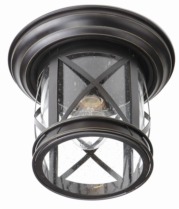 "Trans Globe Lighting 5128 New England Coastal 11"" Outdoor Flush Mount Ceiling Light"