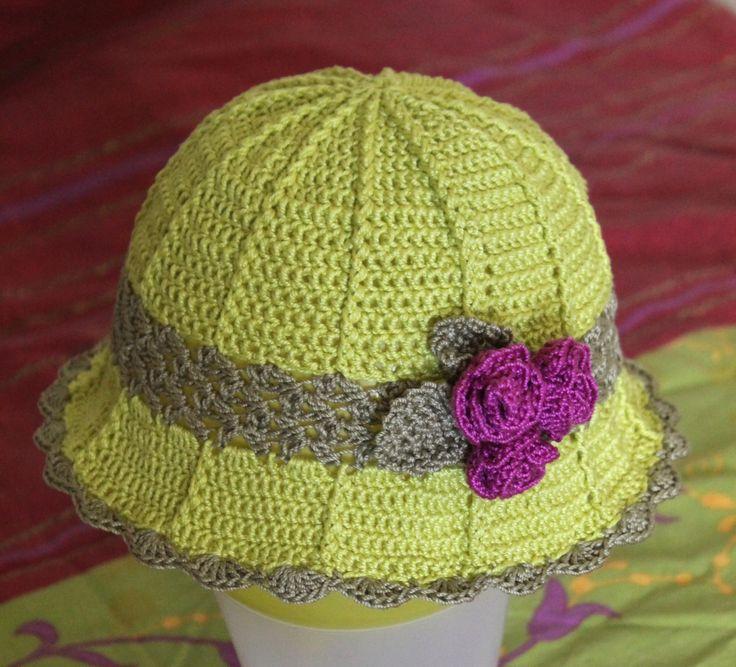 Girls crochet summer hat