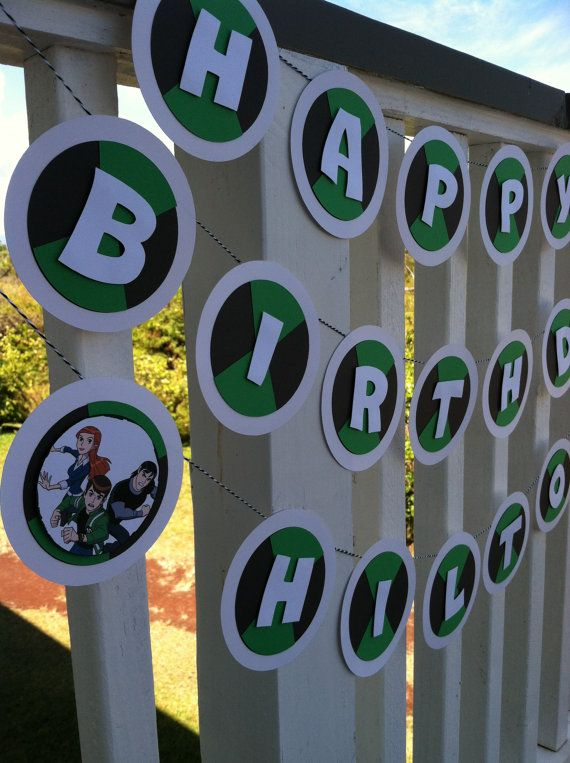 BEN 10 birthday banner @Tiffany Reece We can so make this!!!!
