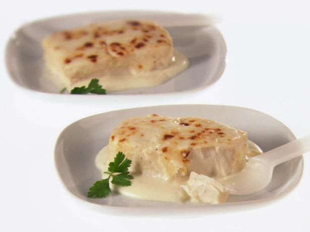 Get Broiled Halibut with Bechamel Sauce Recipe from Food Network