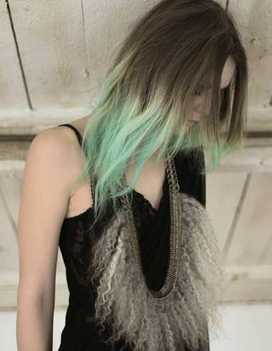 ombre in green. Can I do this with my red?