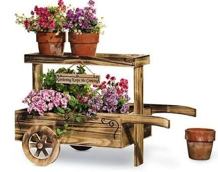 how to build a wooden wheelbarrow planter from pallets