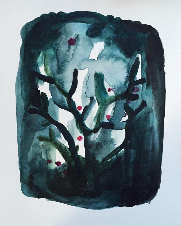 Acrylic on paper. Camilla Knutsen Art #camillaknutsenart #ohbecourageous
