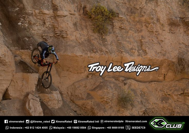 Cam Zink coming down the mountain!   RedBullRampage 2017    Troy Lee Designs MTB 2017 Collections available now in all XClub Stores   tinyurl.com/y92a3j4o    #xtremerated #xclub #tldbike #mtb #downhill #gravity