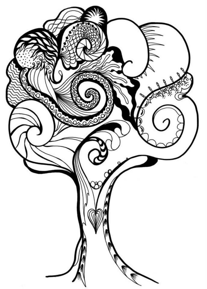color art art therapy coloring pages