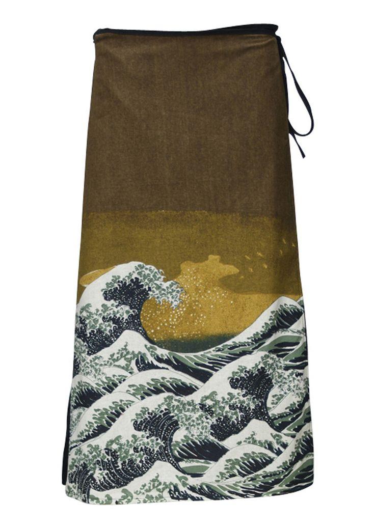 Art Wrap Skirt Wave