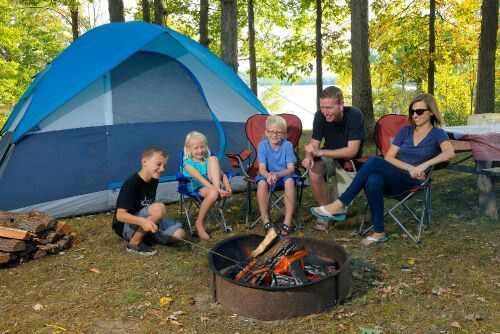 Camping at Alive Festival Atwood Lake Park Mineral City Ohio