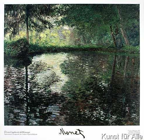 """""""Teich in Montgeron"""" von Claude Monet - 1876 (Städel Museum Frankfurt am Main 01.06.2015)"""