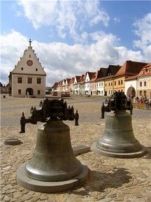 Tower Bells from the Basilica of St Egidius, Town Hall Square, Bardejov, Slovakia