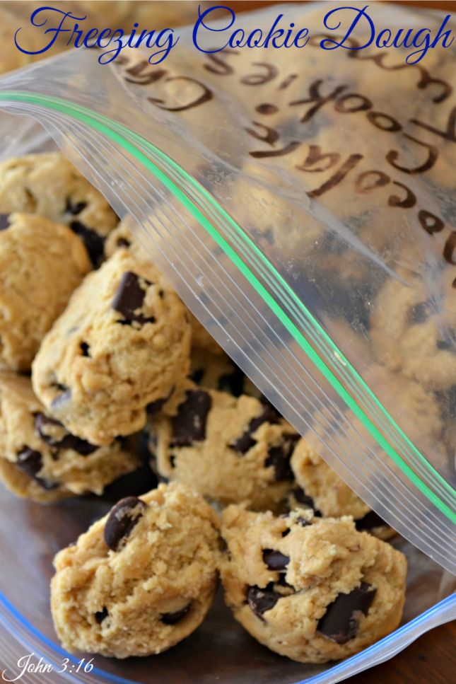 The best way toFreeze Cookie Dough. This way truly works.  I have been freezing dough this way for years. #cookie dough #cookies #freezing cookie dough