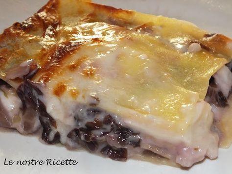 lasagna radicchio e gorgonzola