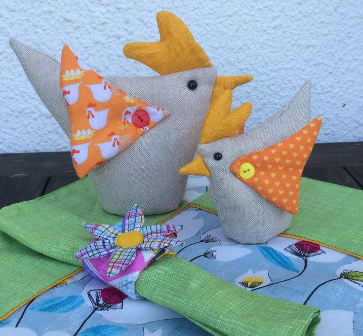 freche Hühner mit serviertenring