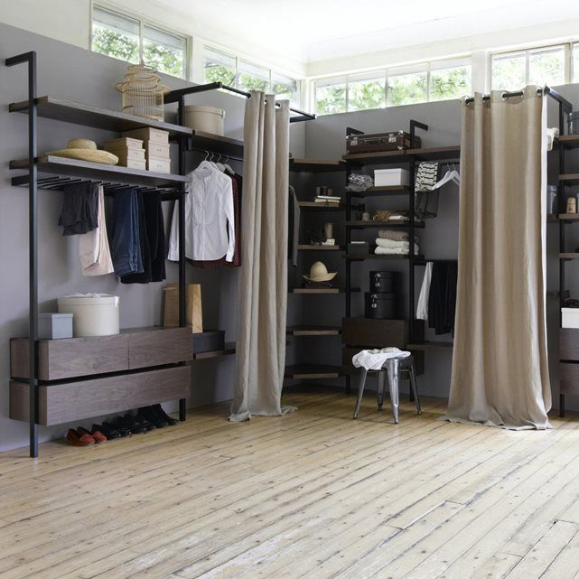 kyriel curtain rail for wardrobe storage system am pm. Black Bedroom Furniture Sets. Home Design Ideas