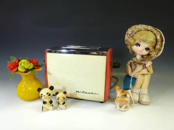 ◆レトロ家電昭和レトロポップHitachi日立トースターパン焼き器_画像1