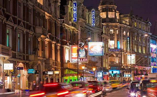 West End London - Shaftesbury Avenue Theatres