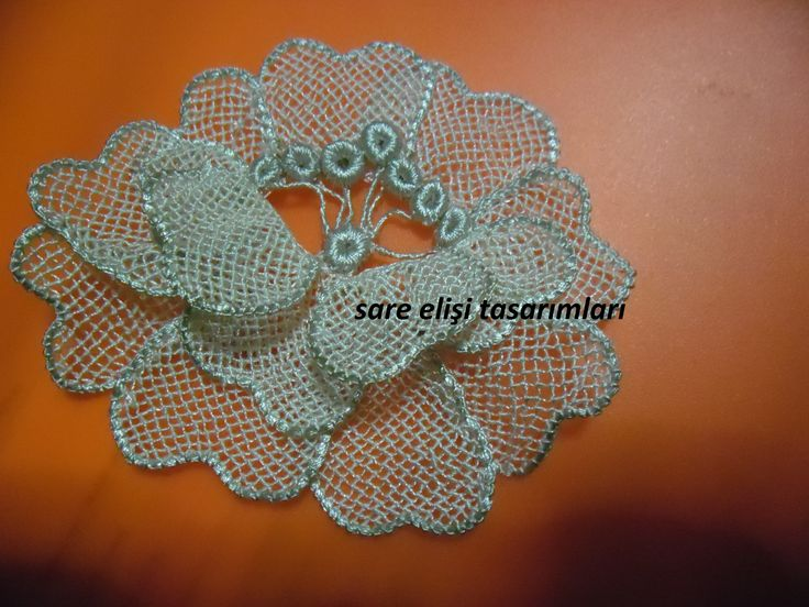 Türk iğne oyası Turkish needle lace