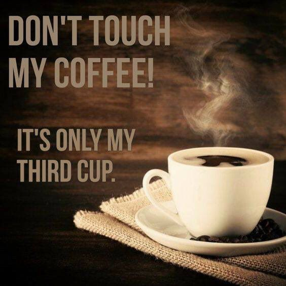 DON'T TOUCH MY COFFEE! IT'S ONLY MY THIRD CUP.