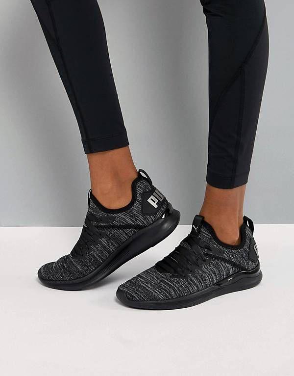 Puma Running Ignite Flash Evoknit Satin Sneakers  1a963cc8e
