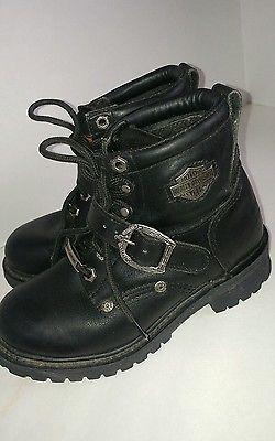 Harley-Davidson Womens Biker Boots, sz 5.5, Leather, VERY NICE!!