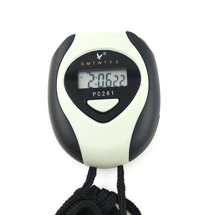 Relojcronómetrodecuentaatrásdigital Single Row 2 Memories LCD con función de calendario de alarma