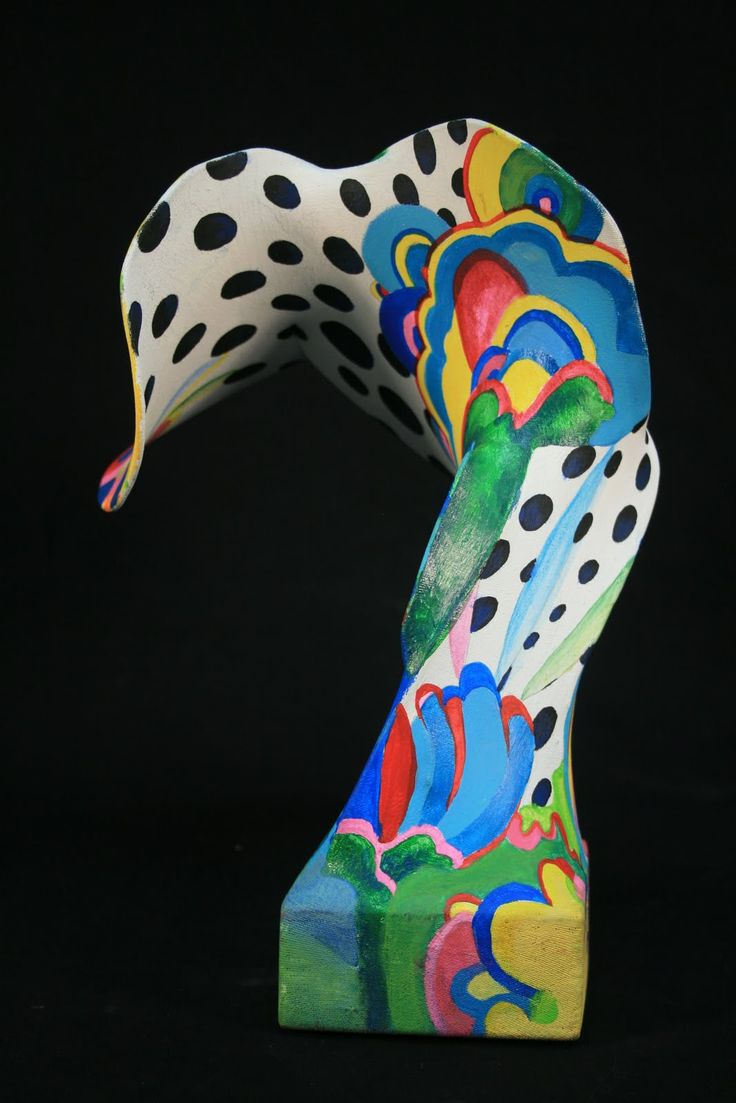 panty hose sculptures - I've made these before but I like the paint job on this one!