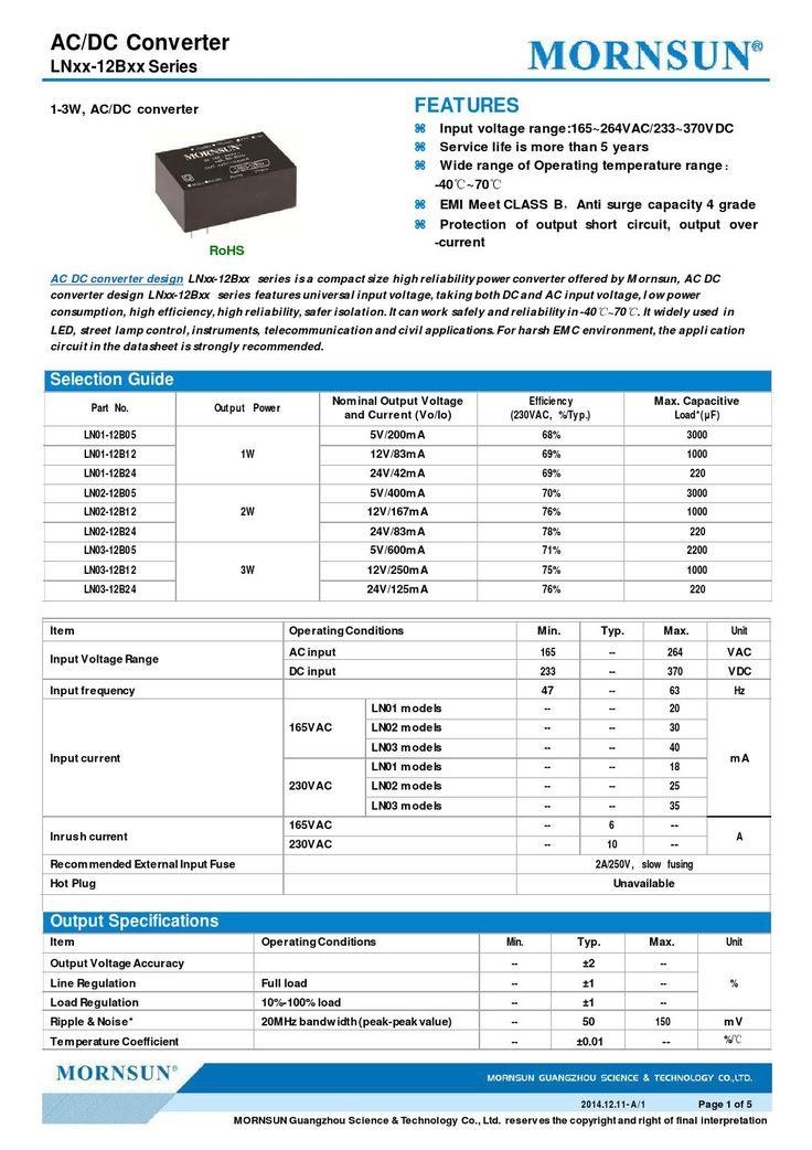 AC/DC Converter  LNxx-12Bxx Series