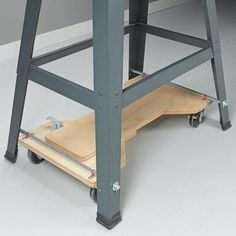 This is so simple for a mobile base for your tools or table. Pict One