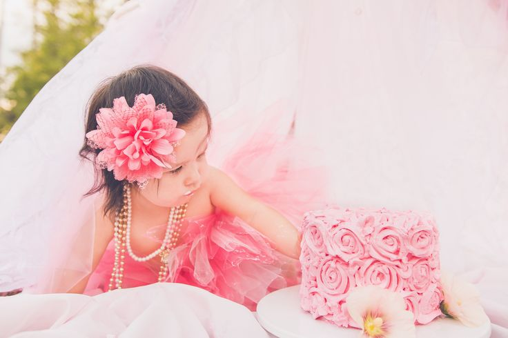 pink tutu - pink and gold - cake smash - lace tent - pink cake - edible flowers