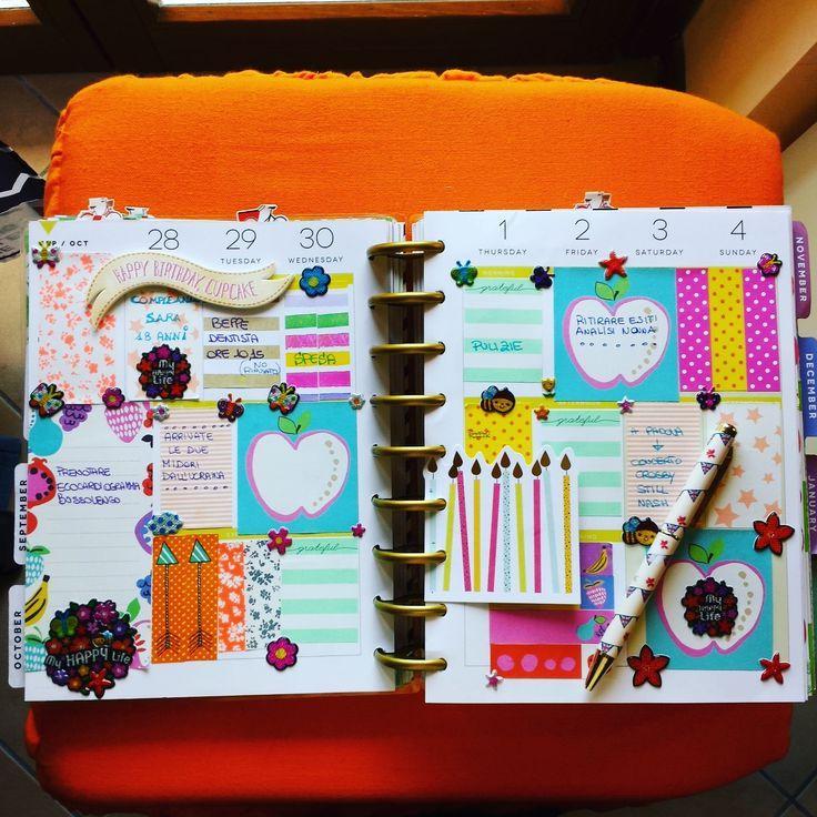 decorazione settimanale su Happy Planner di Paola Martino