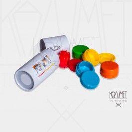 Botes #Silicona para #extracciones ideal para #BHO #Solventless #amberglass pack con cinco colores diferentes