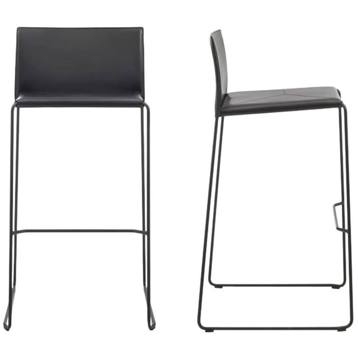 modern bar stool made in italy new leather available in 30 colors
