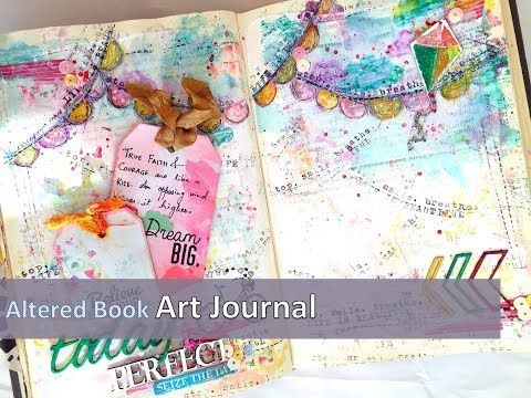 the Colour Press: Video Hop with us & Giveaway : Art journal in my altered book
