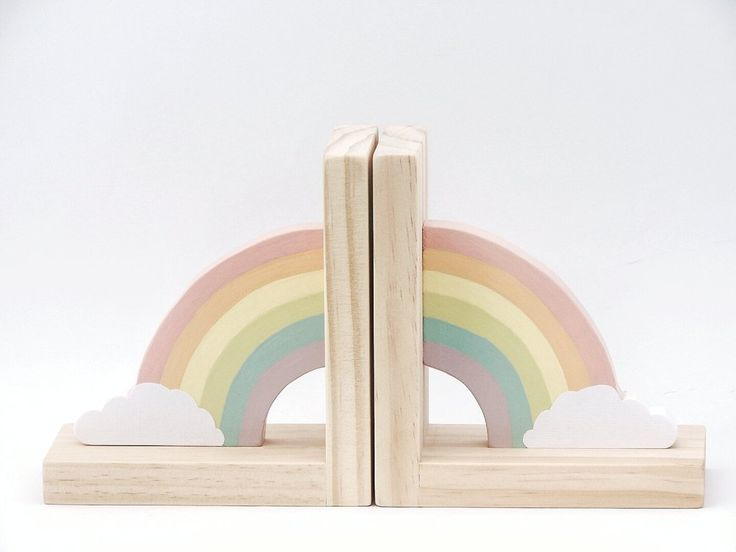 Pastel Rainbow Bookends