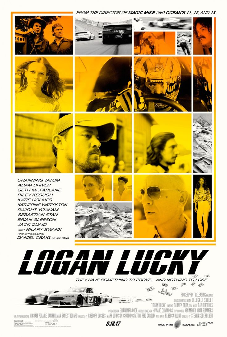 Logan Lucky - 2 new posters and TV spot -> https://teaser-trailer.com/movie/logan-lucky/  #LoganLucky #LoganLuckyMovie