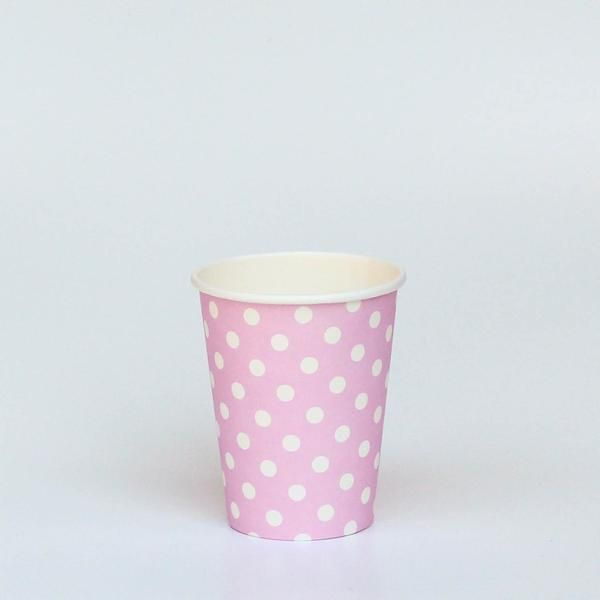 Polka dot Pink Paper Party Cup