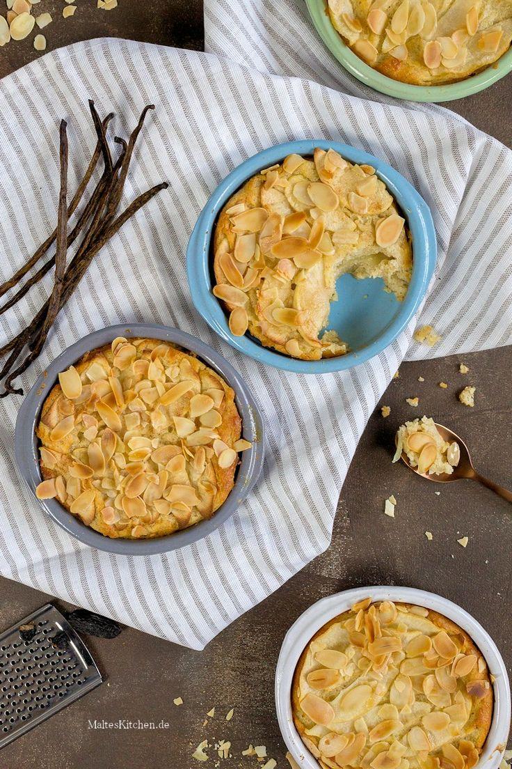 Quark-Griess-Auflauf mit Birnen, Äpfel, Vanille & Mandelblättchen | malteskitchen.de