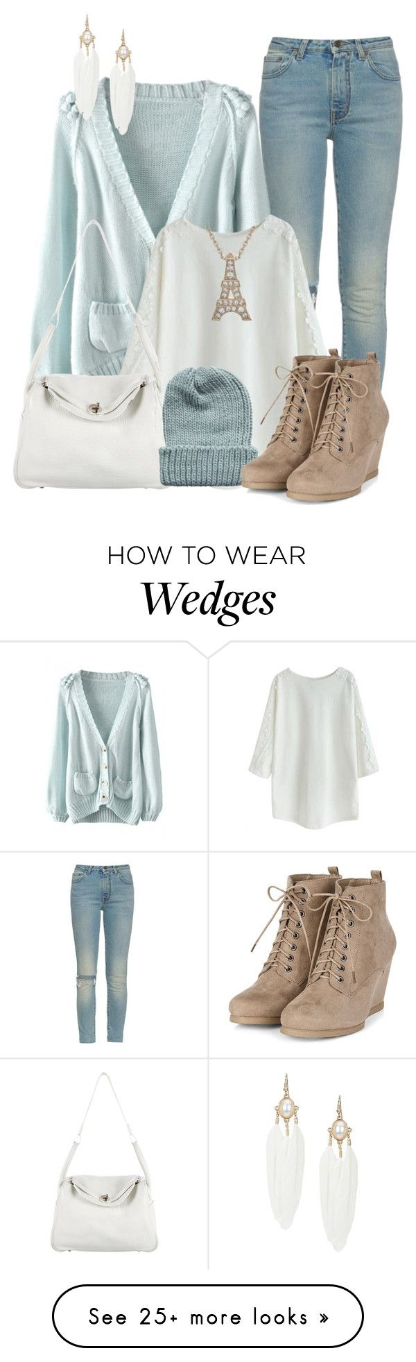 """Pastel Winter"" by lchar on Polyvore featuring mode, Yves Saint Laurent, Hermès en Rut&Circle"