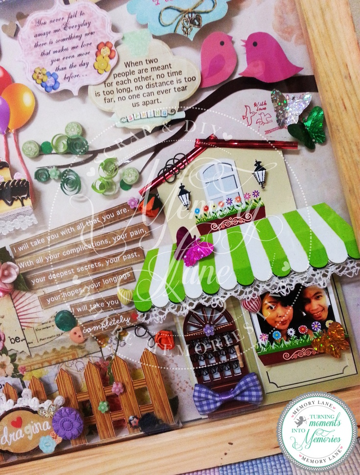 Frame layout 30x30cm, birthday occasion, garden theme.