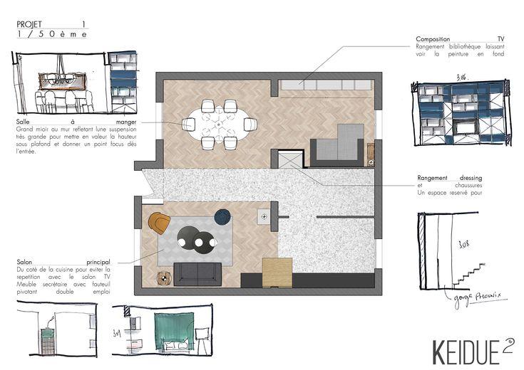 Aménagement pièce à vivre (06) Projet Keidue² #renovation
