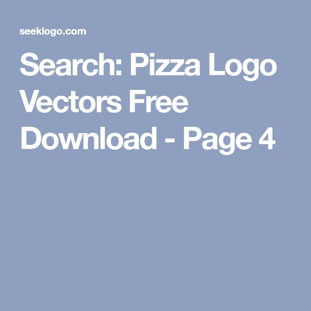Search: Pizza Logo Vectors Free Download - Page 4