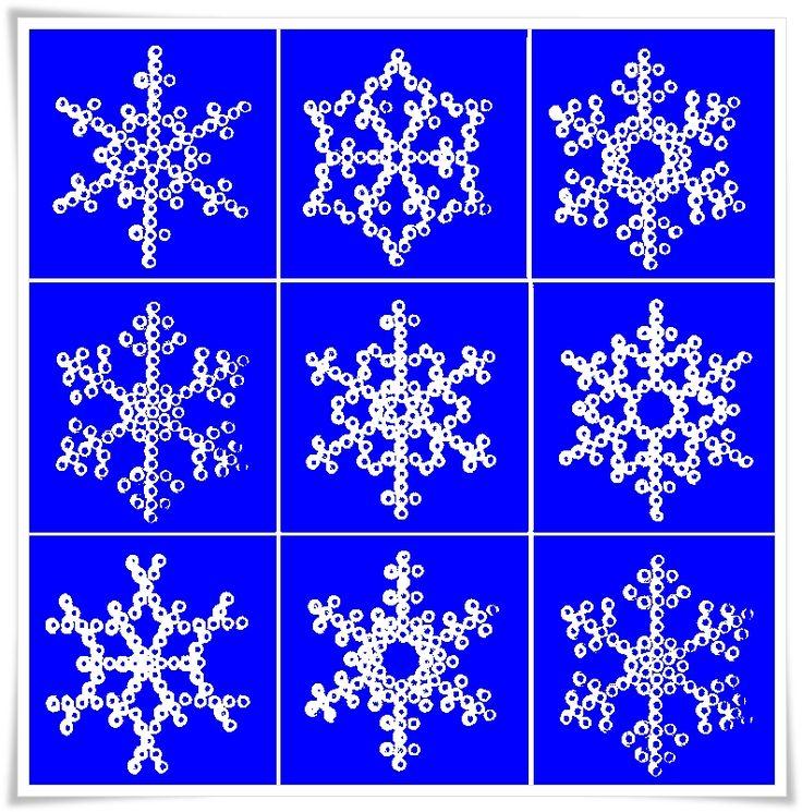 Schneekristall aus Bügelperlen Schneekristalle aus Bügelperlen SIMPLY THE BEST Immer wieder schön, ist das Arbeiten mit Bü… – Tine W