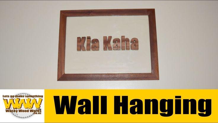 Kia Kaha Wall Plaque - Off the Cuff - Wacky Wood Works.