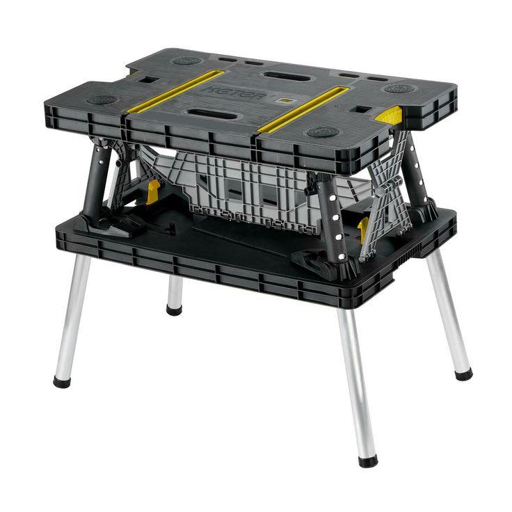 Keter 21.65 in. x 33.46 in. x 29.7 in. Folding Work Table