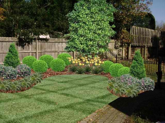 Landscaping Idea For Around Fence Via Imgur Landscaping Fence Gardendesign Landscaping