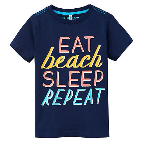 Buy Little Joule Boys' Ben Screen Print Jersey T-Shirt, Navy/Multi Online at johnlewis.com
