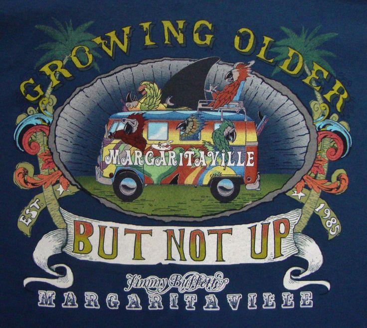 Jimmy Buffetts Margaritaville New Orleans T-shirt XL Growing Older Parrots Van $32.99 OBO