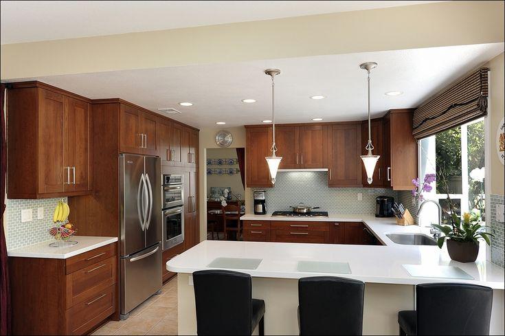 Kitchen:36 Upper Cabinets In 8' Ceiling Standard Upper ...