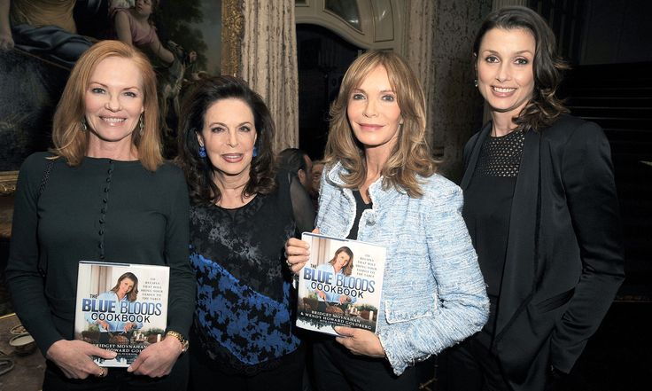 "Co-authors Bridget Moynahan and Wendy Howard Goldberg celebrated the launch of ""The Blue Bloods Cookbook"", a tome featuring over 100 recipes inspired by hit CBS police drama ""Blue Bloods."" Pictured here: Marg Helgenberger, Wendy Goldberg, Jaclyn Smith, Bridget Moynahan."